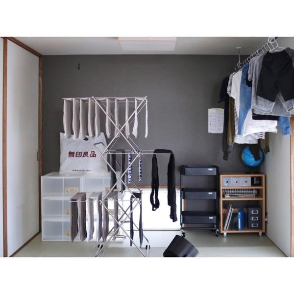 室内干しスペースを確保する