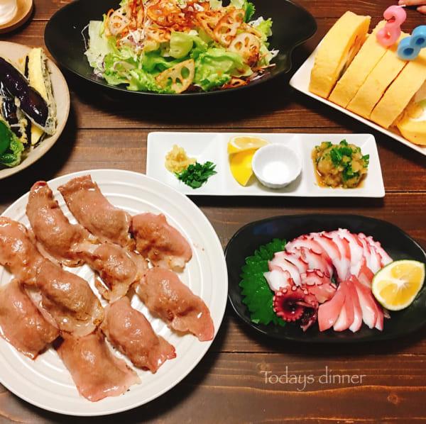 牛肉薄切りの炙り寿司