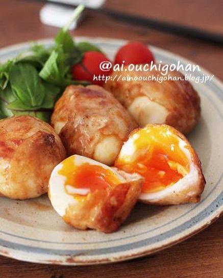 卵の豚肉巻き