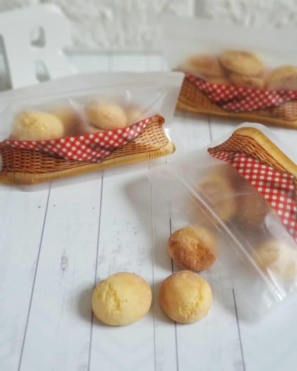 バスケット柄のジップバッグでお菓子が高見え