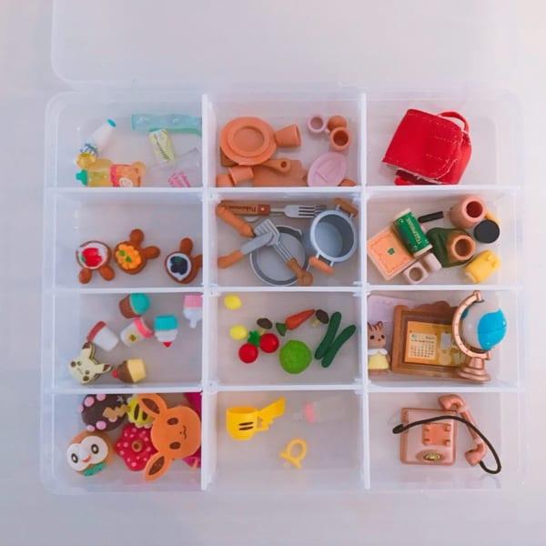 子供の細かいおもちゃの収納には
