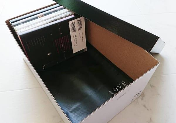 ストレージボックスに本を収納