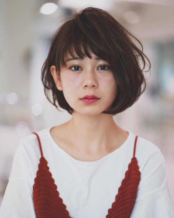 小顔に見える前髪 ショートヘア13