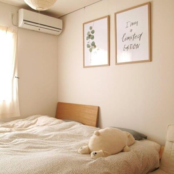 やさしいデザインのポスターで可愛いお部屋に