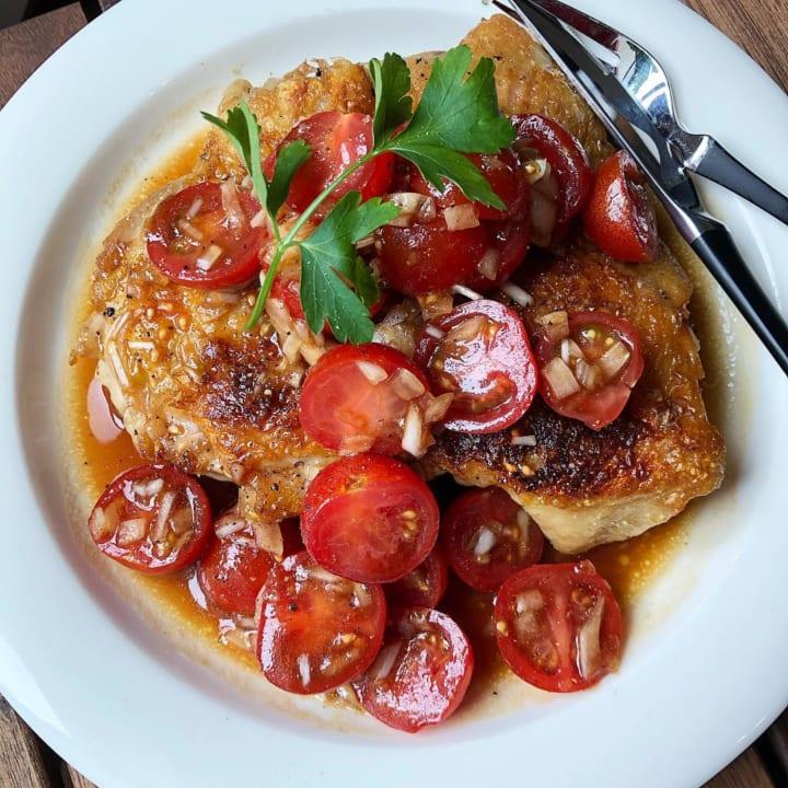 バルサミコトマトマリネのチキンソテー