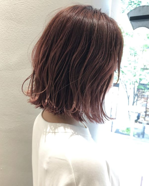 ボブに似合う髪色 ラベンダー、ピンク系4
