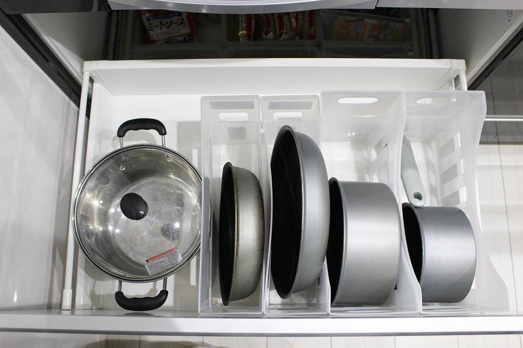 使用頻度が高い鍋は手の届きやすい場所に