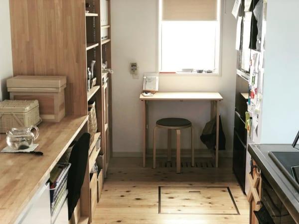 キッチン奥の指定席