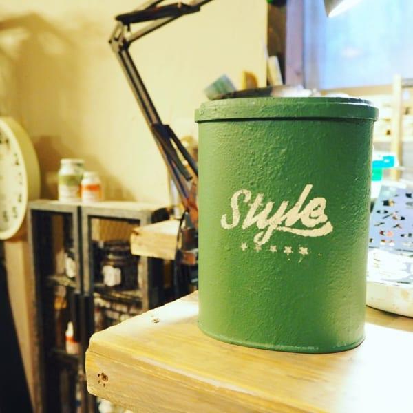 ワッツのステンシル リメイク缶DIY
