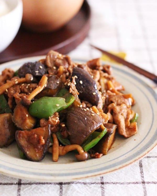 豚肉とナスの味噌炒め