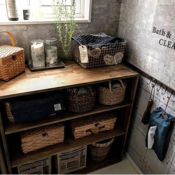 DIY脱衣所収納棚②