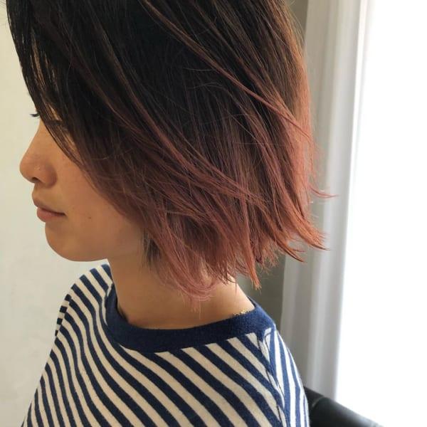 ボブに似合う髪色 グラデーション・バレイヤージュ3
