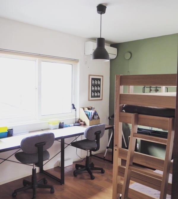 仲良く勉強できる部屋