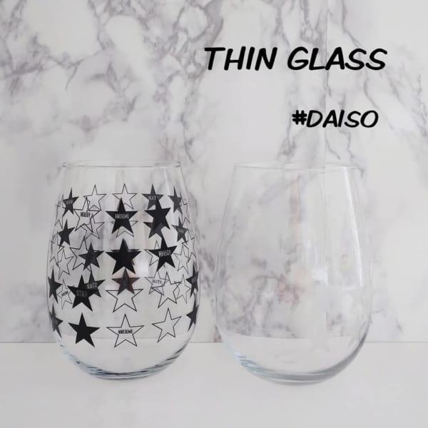 スター柄グラス