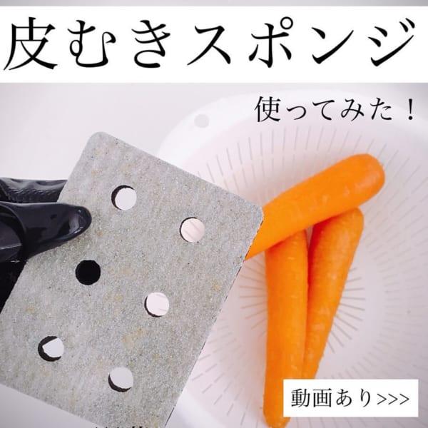 野菜の皮むきスポンジ