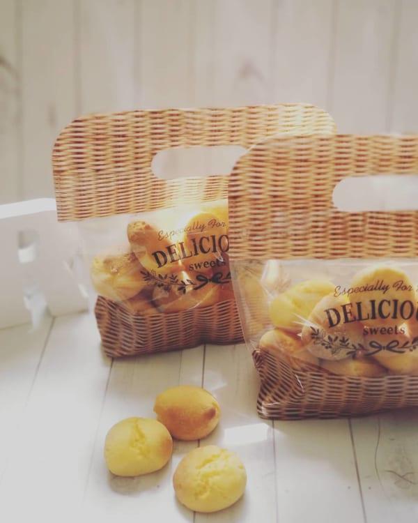 お菓子を入れても可愛いジッパーバッグ