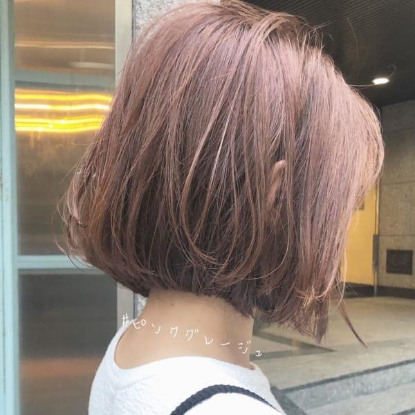 ボブに似合う髪色 グレージュ系4