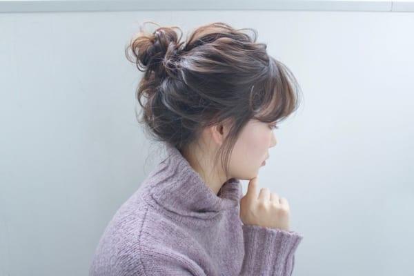ツイスト×お団子まとめ髪アレンジ