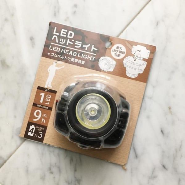 LEDヘッドライト【セリア】