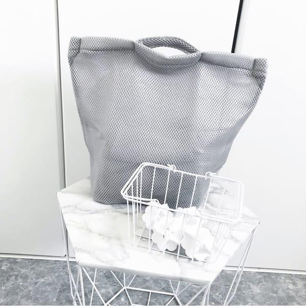 そのまま洗えるランドリーバッグ