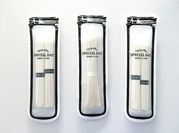ジッパーバッグは麺類収納に便利