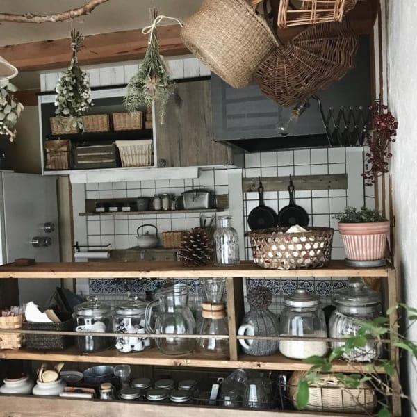 キッチン ディスプレイ収納9
