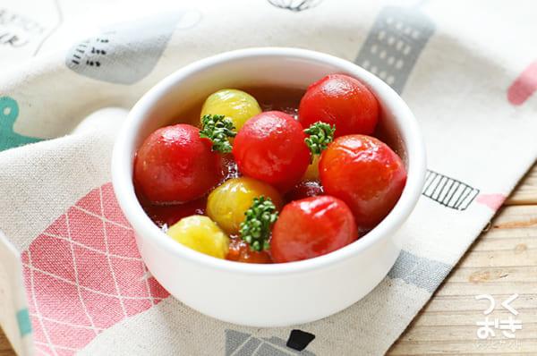 大人気!はちみつ風味のミニトマトのマリネ