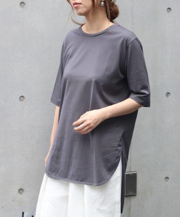 ATON - SUVIN C ラウンドヘム Tシャツ