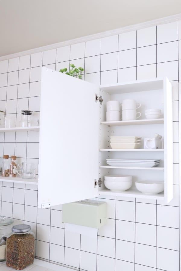 お皿のおすすめ収納術《IKEAアイテム》5