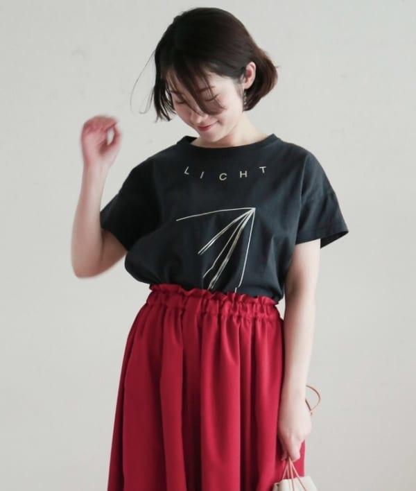 NOMBRE IMPAIR - LICHTプリント半袖Tシャツ