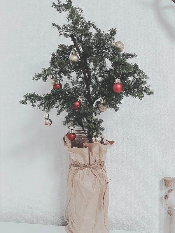 クリスマスデコレーションDIY ミニツリー3
