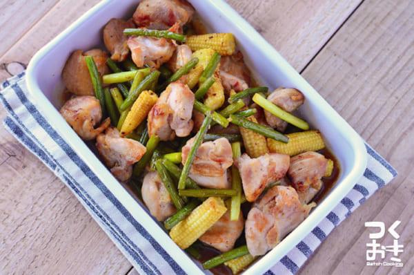 メインにおすすめ!鶏肉とニンニクの芽の炒め物