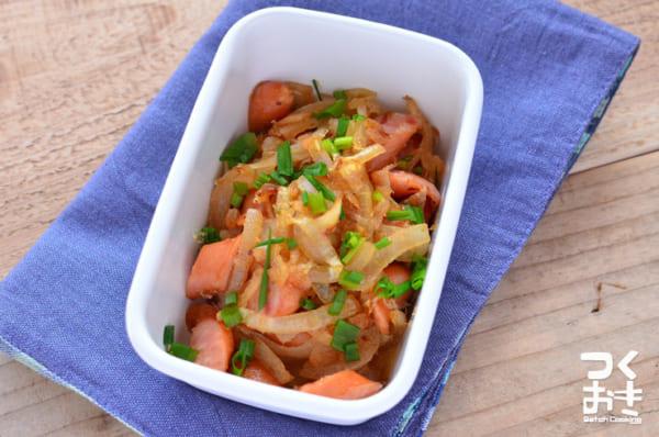 ウインナーを使った人気のレシピ!玉ねぎの和風炒め