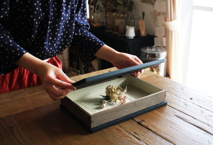 おしゃれな「洋書型ボックス」を簡単DIY!