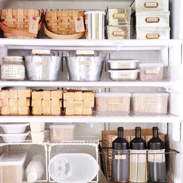 【冷蔵庫収納】100均グッズ④ナチュラルカゴ