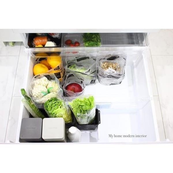 【冷蔵庫収納】100均グッズ④自立型水切りゴミ袋