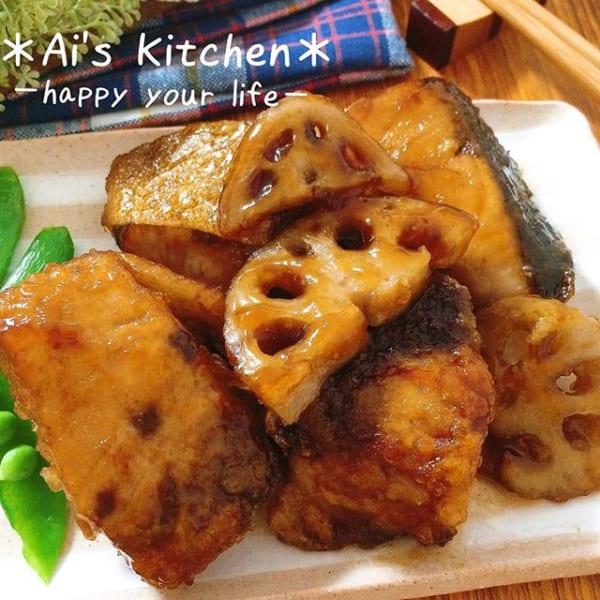 美味しい食べ方!冬魚のブリとれんこんの竜田揚げ