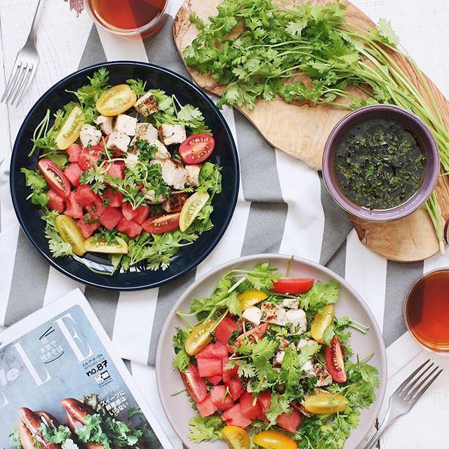 パクチー 人気料理レシピ サラダ2
