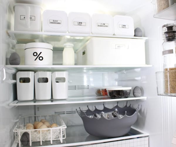 ニトリのケースを使って冷蔵庫の中を整理