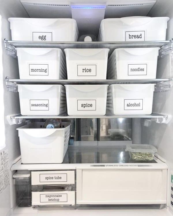【冷蔵庫収納】100均グッズ①収納ケース