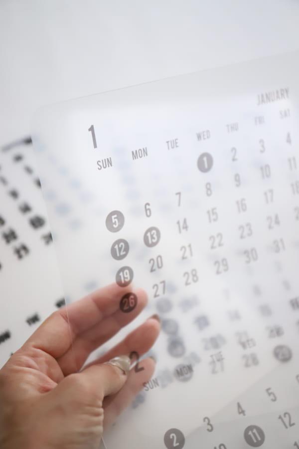 セリア モノトーン カレンダー 2020 15