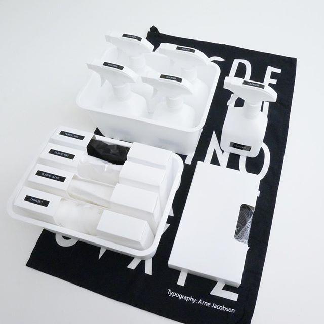 【セリア】モノトーンの消耗品収納ケース