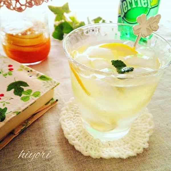 さっぱりフルーツで!冬のレモンスカッシュ