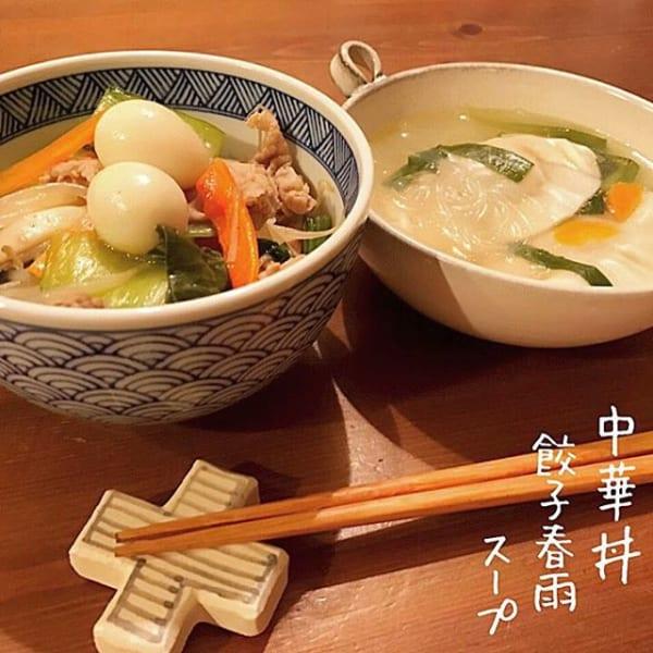 中華料理の献立レシピに!餃子春雨スープ