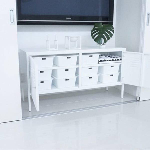 IKEAインテリアでおしゃれなテレビ回り