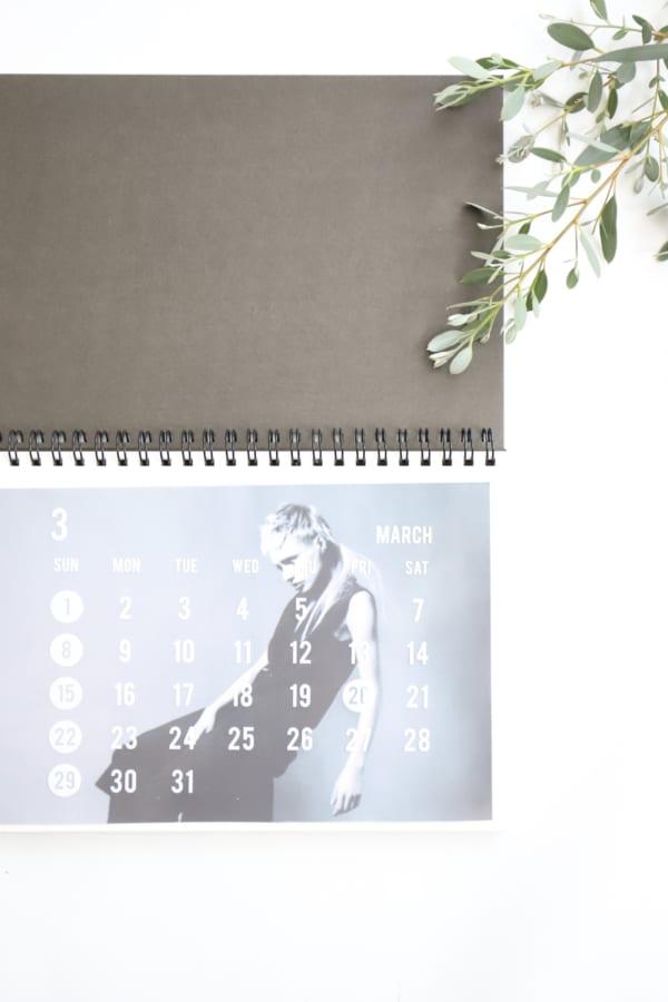 セリア モノトーン カレンダー 2020 17