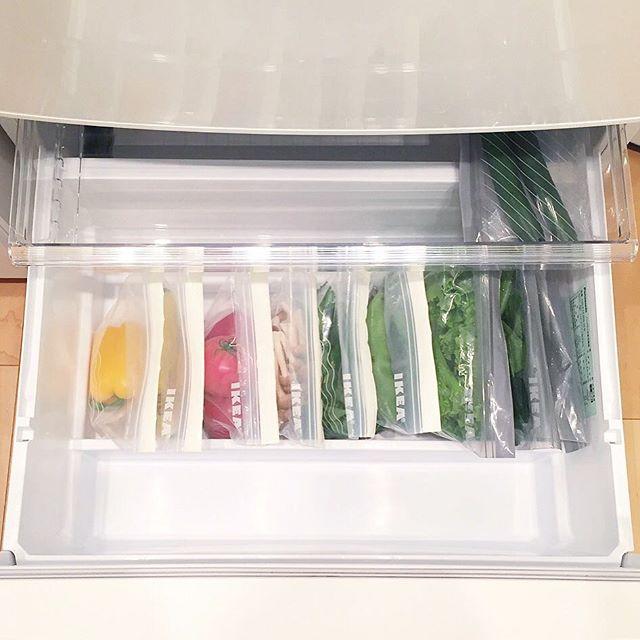 野菜はIKEAアイテムでおしゃれに保管