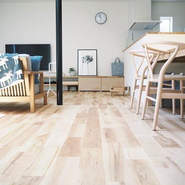 木材の床で楽しむインテリア