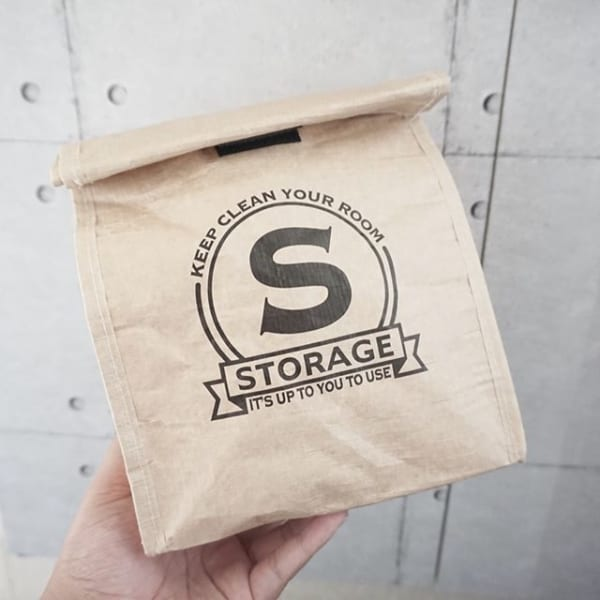 ストレージバッグに文庫本を入れた可愛い収納