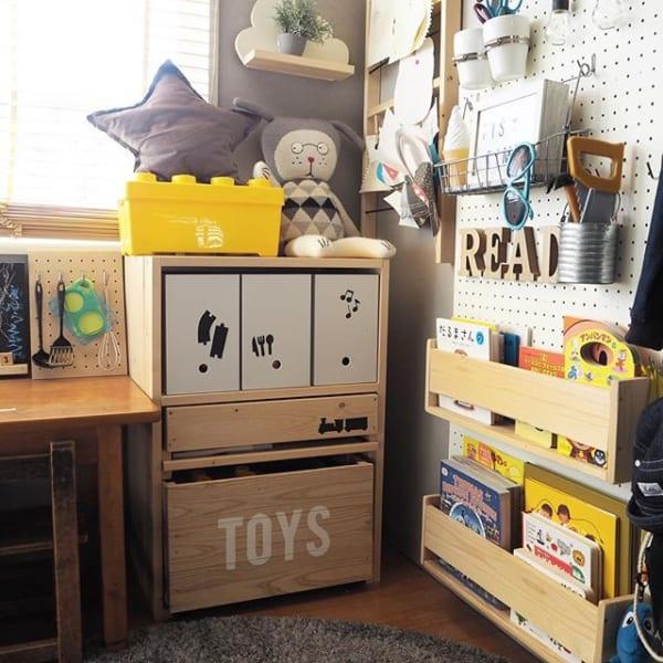 無印のファイルボックスはおもちゃの収納にも抜群!